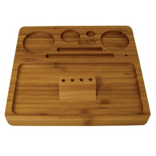RAW Rolling Tray Bambus mit Magnet 21,8 x 20,3 cm